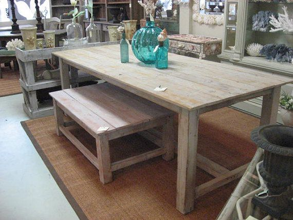 Old RECLAIMED PINE distressed dining table by Oldpine on Etsy, $895.00