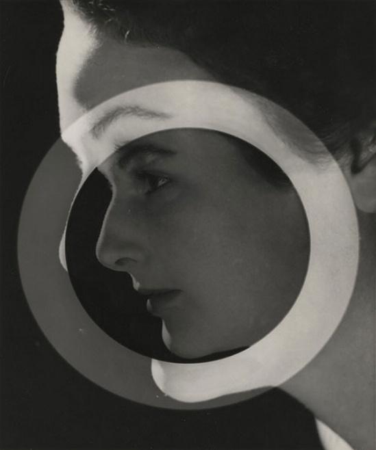 Max Dupain -Portrait With Circle, 1930s