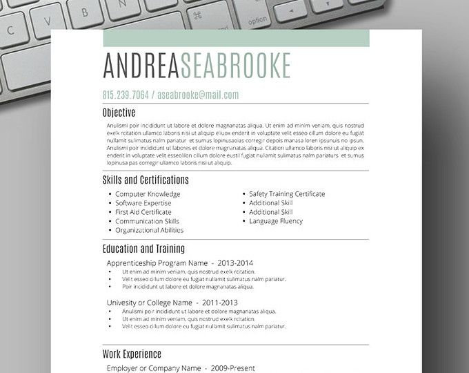 83 best Two Page CV Template - Word images on Pinterest Resume - free resume builder that i can save