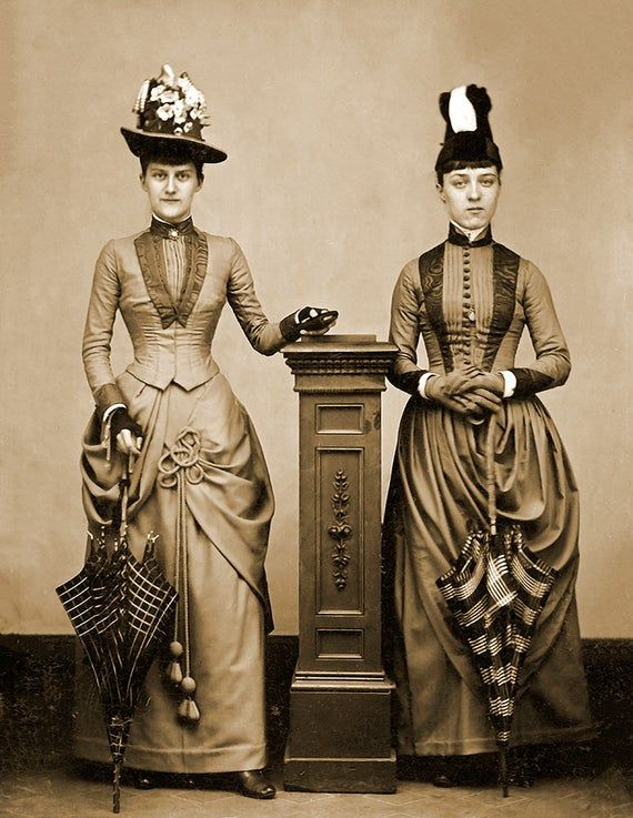 1870 Two Women With Umbrellas Vintage Photograph 8 5 X Etsy In 2020 Define Fashion Fashion Tips For Women Victorian Fashion