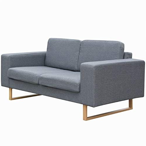 Modern Style Sofa 2 Seater Fabric Futon Set For Apartment Living Room Furniture 61 4 Fabric Sofa Couch Upholstery Seater Sofa