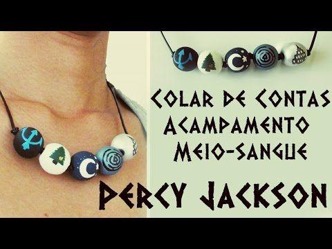 DIY: Colar de Contas Acampamento Meio-Sangue de PERCY JACKSON (PJO Camp Half-Blood Necklace) - YouTube