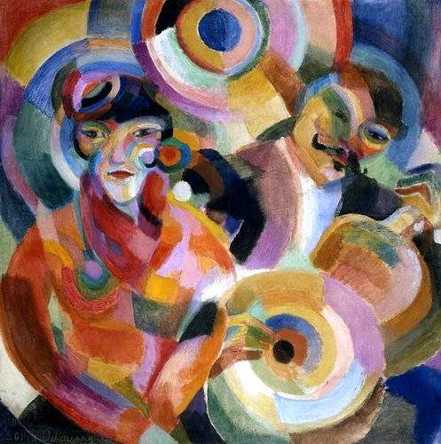 Delaunay-Terk, Sonia (1885-1979) - 1915 Flamenco Singer (Private Collection) Oil on canvas. Incredible Representation