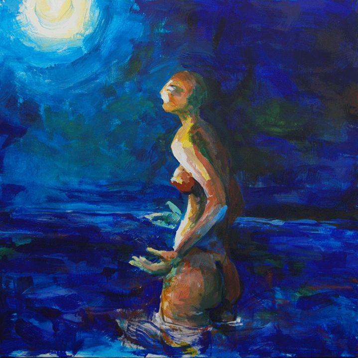 La Venus del meu jardí / Venus in my garden / La Venus de mi jardín #pintura #paiting http://laufeliu.com/
