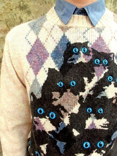You own a sweater like this: | Community Post: 39 Signs You Might Be A Crazy Cat Lady