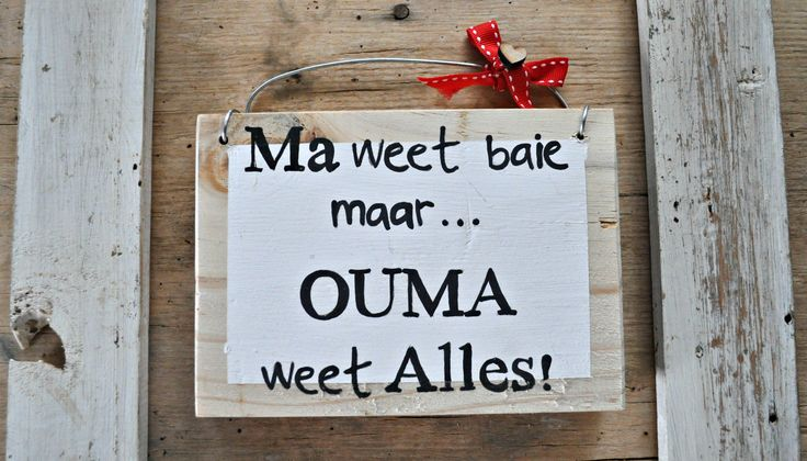 Wooden Gift Sign Something Small Afrikaans Wall Art Ouma