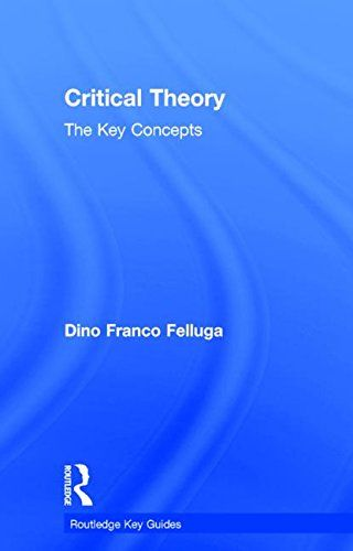 """Critical theory : the key concepts. """"introduces over 300 widely-used terms, categories and ideas drawing upon well-established approaches like new historicism, postmodernism, psychoanalysis, Marxism, and narratology as well as many new critical theories of the last twenty years such as Actor-Network Theory, Global Studies, Critical Race Theory, and Speculative Realism."""""""