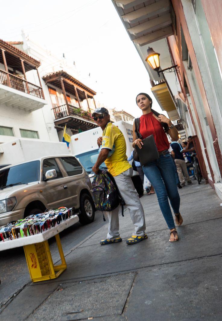 Las calles de Cartagena de Indias.