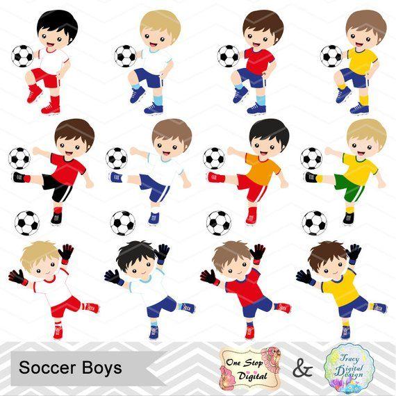 Instant Download Soccer Boy Digital Clipart Soccer Boys Clip Art Digital Soccer Team Clipart Soccer Clip Art Sport Clipart 0256 Clip Art Clipart Boy Soccer Birthday