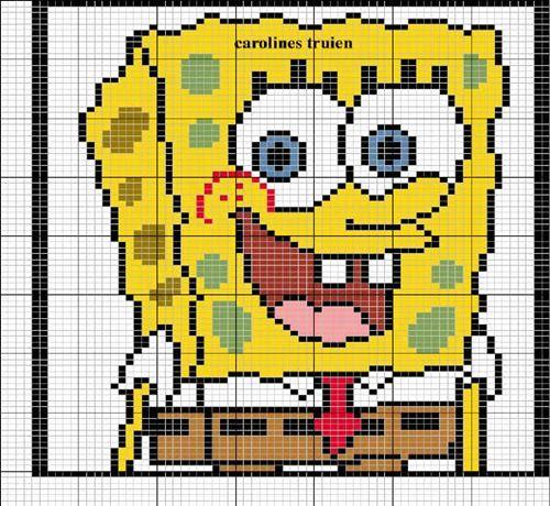 Gráfico-de-bob-esponja-punto-en-cruz.jpg (500×460)