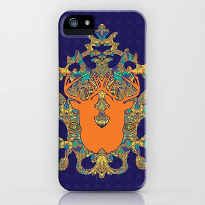 Arabic Marigold : Orange Antelope iPhone & iPod Case by Geetika Gulia - $35.00
