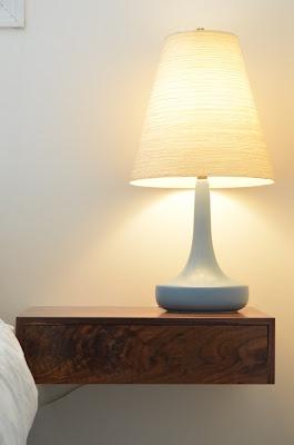 Floating bedside tables by teal manufacturer of special woodwork