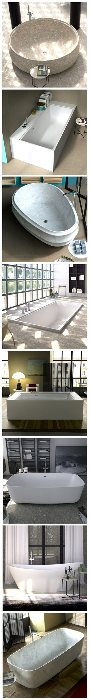 Natural stone or ASTONE®? Free-standing, wall placed, angular, recessed in the floor? Soft and rounded or squared lines? Choose your own #personal #style! ___ #Bathtubs » www.signweb.it/listaprodotti/?tipologia=vasche