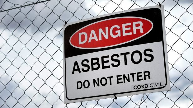 An Access Canberra spokeswoman said damaged asbestos fragments had been dampened to prevent dust spreading and confirmed there was a very low risk to the public. #asbestos