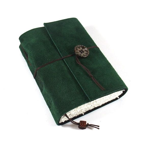 Journal Leather Suede Diary Handmade: Black Forest by Kreativlink #Tagebuch