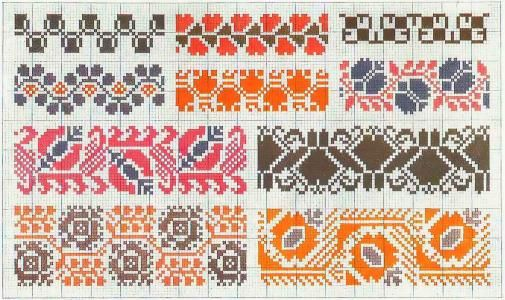 Border 77   Free chart for cross-stitch, filet crochet   Chart for pattern - Gráfico
