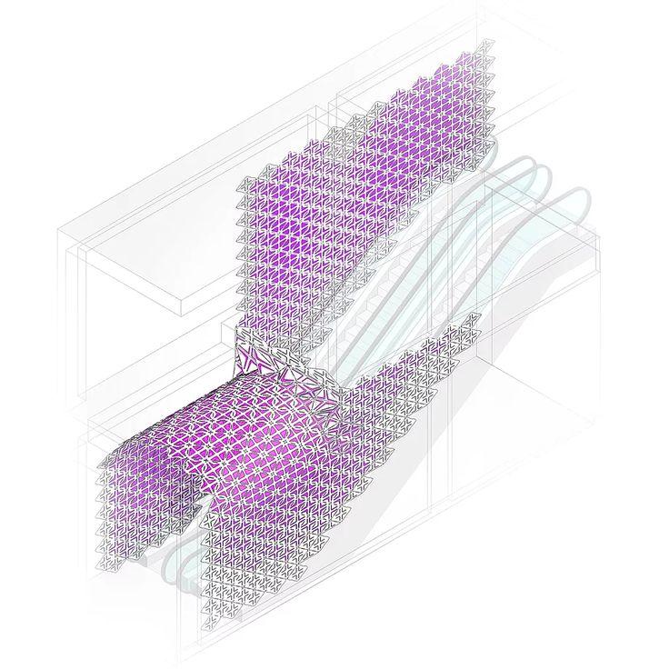 AMD Architects #parametricdesign #ornamentarchitecture #contemporaryart #installation #architecturedrawings #isometric