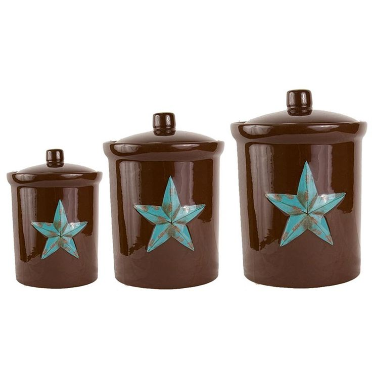 Turquoise Star Canister Set Kitchen Canisters Home Design