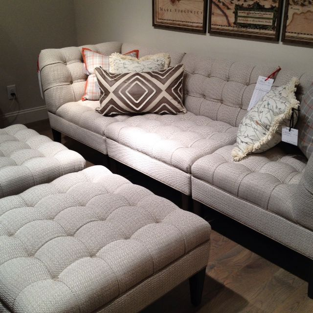 Love this sectional and ottomans at Wesley Hall High Point Market 2014 Spring #hpmkt # : wesley hall sectional - Sectionals, Sofas & Couches