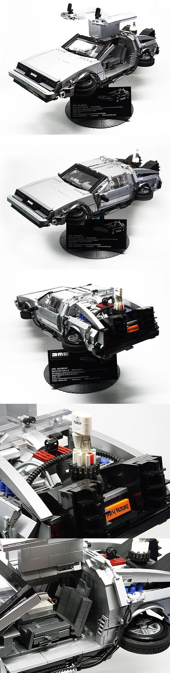 Back To The Future II DMC DeLorean! LEGO Replica by Orion Pax (Lego Artist)...hope it becomes available as a kit soon!