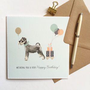 Schnauzer Birthday Card - birthday cards