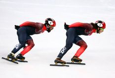 Canadian spirits were dashed at the Gangneung Ice Arena on Saturday night with the men's 1500m short track speed skating...