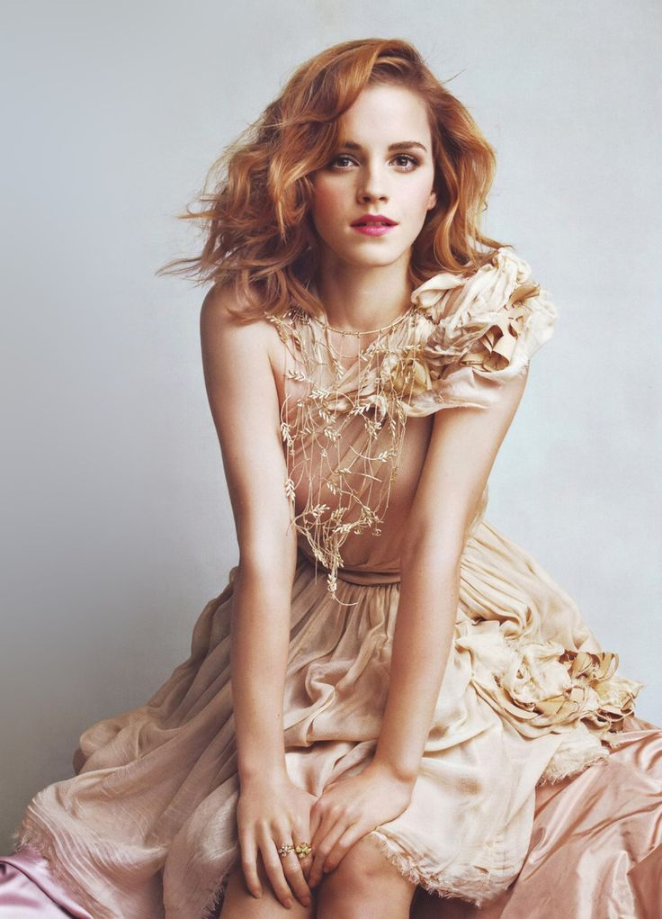 Emma Watson by Patrick Demarchelier for Chanel. texture