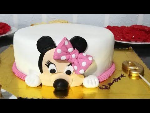 تزين كيكة عيد ميلاد بنتي ليا تزين كيكة بعجينة السكر كيكة ميكي ماوس Youtube Cake Desserts Food