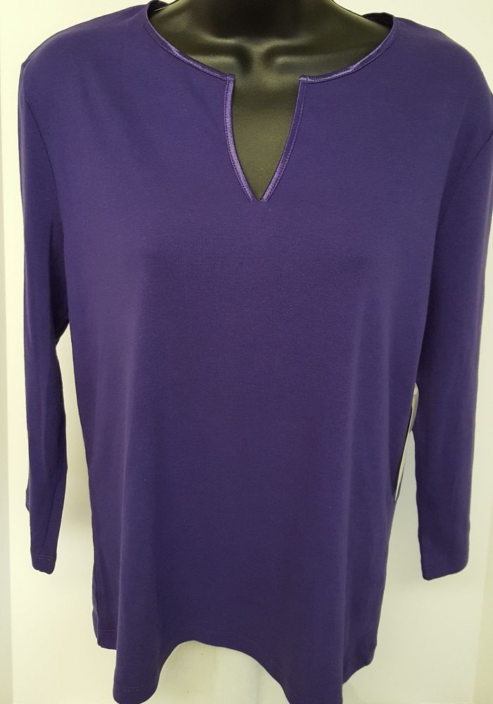 Jones New York NWT Woman's Purple Shirt Size M #JonesNewYork #Blouse #Casual