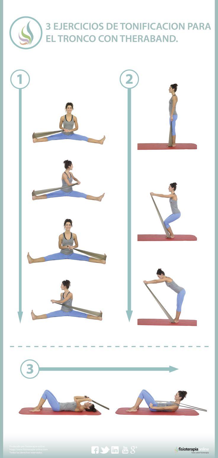 Con estos ejercicios, podrás tonificar tus músculos dorsales y abdominales gracias a la theraband.