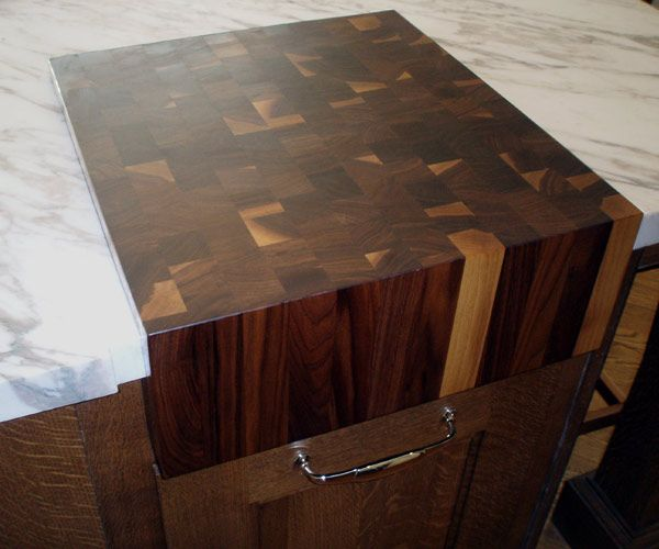 8 Thick Walnut End Grain Butcher Block Natural Color Sealed And Oiled With