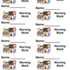 Morning work file folder labels.    Print on a full sticker page or these are formatted for Avery Shipping label size: 5263...