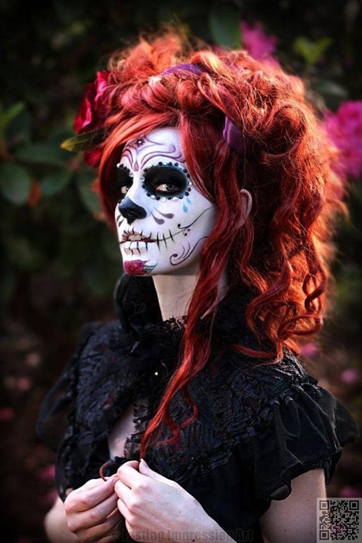 5. #Victorian - Hauntingly Beautiful #Sugar Skull #Makeup #Found on Pinterest ... → Makeup #Beautiful
