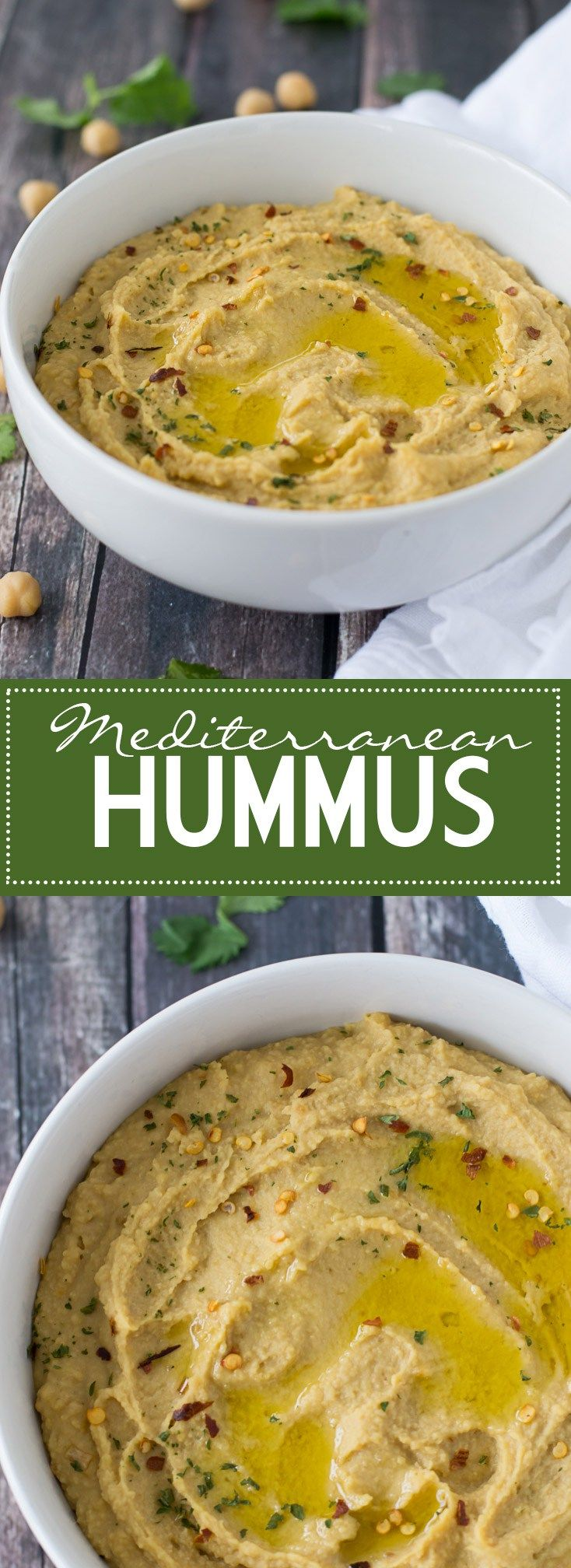 An eas and delicious recipe for Mediterranean Hummus - no tahini required!