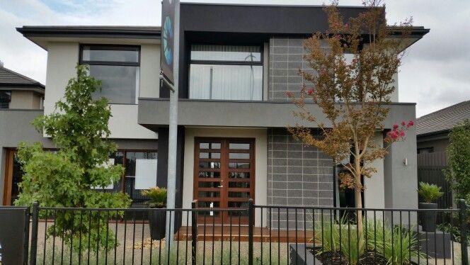 Carlisle Montague Woodlea Rockbank - facade greys vs lighter tender colours with black frames