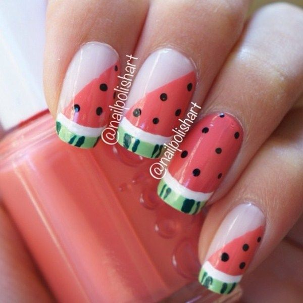 Day 279: Pink Watermelon Nail Art - - NAILS Magazine