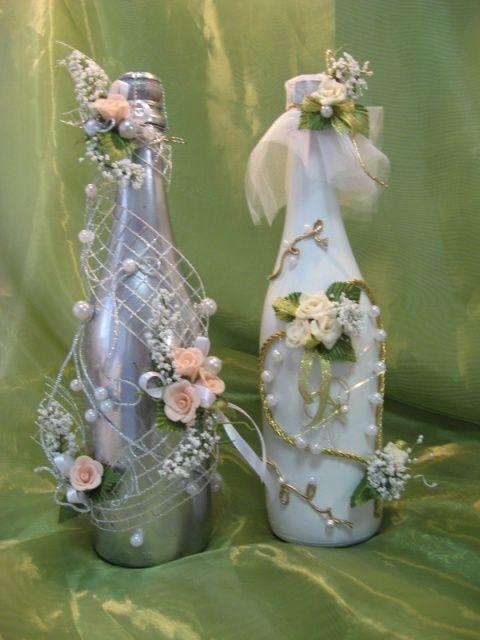 Botellas de cava decoradas