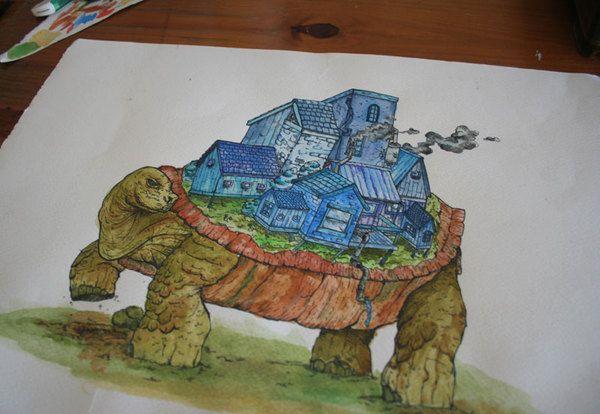The Turtle by Dylan Wyndham Jones, via Behance