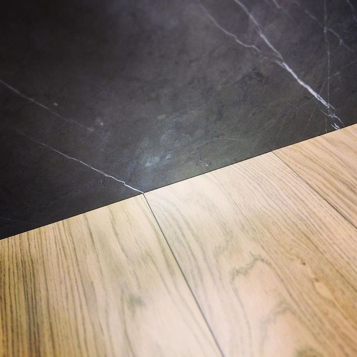 Wood and grey marble