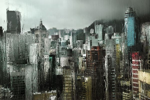 Hong Kong in the Rain by Christophe Jacrot - I LOVE this photo.
