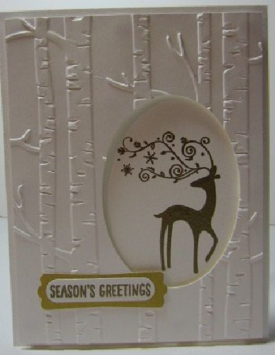 Handmade Reindeer Christmas Card