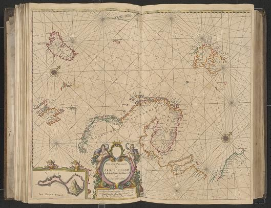 Page 10  Zee-atlas; Colom, Arnold 1656?  Albert and Shirley Small Special Collections Library, University of Virginia.  http://search.lib.virginia.edu/catalog/uva-lib:2287415/view#openLayer/uva-lib:2380011/6497.5/8463/2/1/0