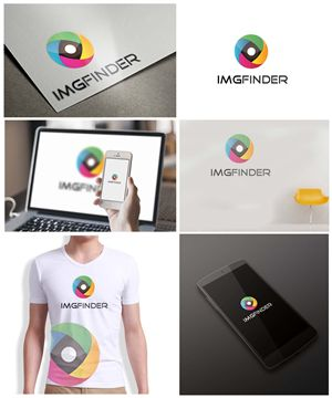 Logo design for a stock photo search engine - I... Logo Design by Gentle Spring Rain