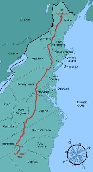 The 25 best Map of appalachian trail ideas on Pinterest
