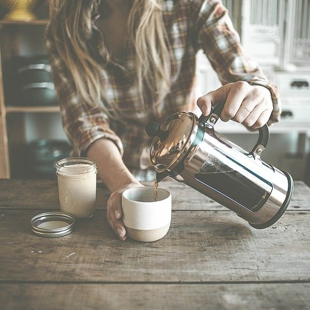 Pouring French Press Coffee // via tifforelie