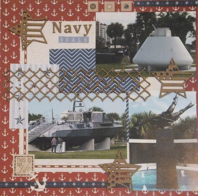 Bee Cee Creativity: Navy Seals project using Creative Embellishments Accents and Paper House Nautical Collection