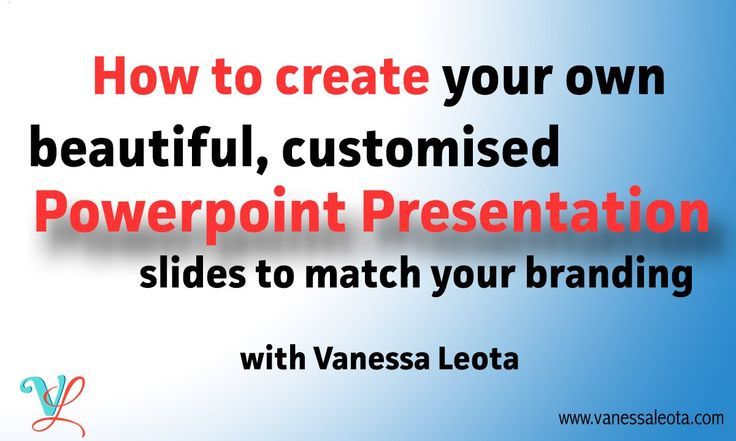 How to create customised themes for your presentation slides