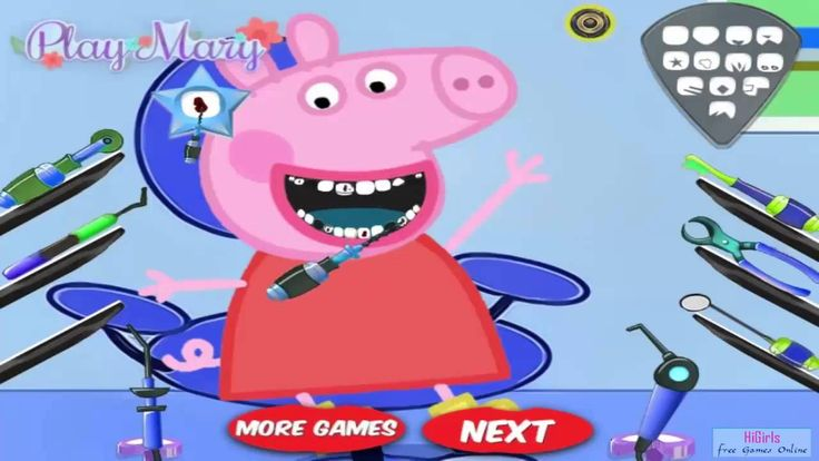 Girl Games To Play ♥ Peppa Pig Dental Care ♥ Girl Games For Free  [HD]