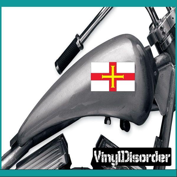 Guernsey Flag Sticker Car Or Wall Vinyl Decal