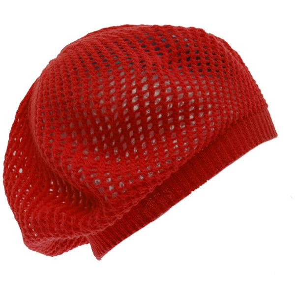 Hats | Accessories ($8.50) ❤ liked on Polyvore featuring accessories, hats, beanies, hair, red, red hat, beret hat, red beanie hat, red beret and red beanie